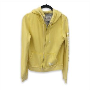 Victoria's Secret Pink Yellow Peace Graphic Hoodie